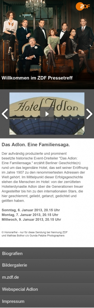 ZDF - Mobile Landingpages